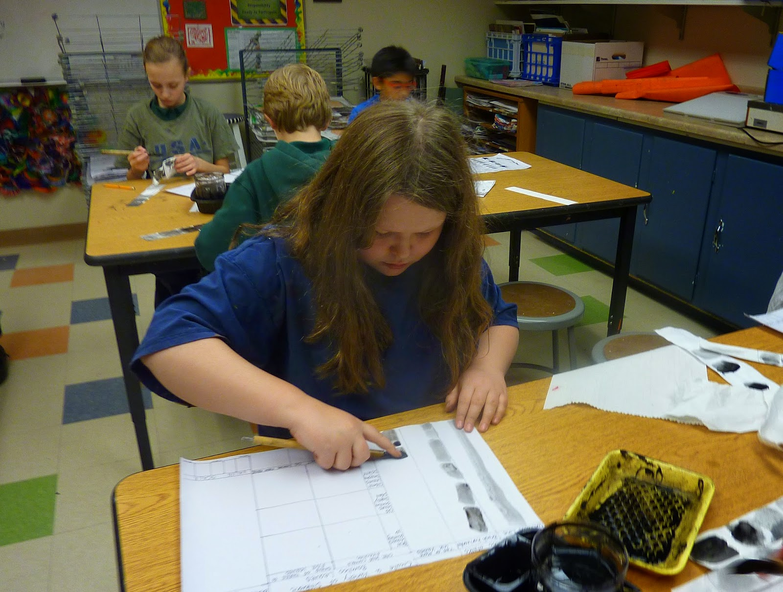 P C K Art Room Chinese Bamboo Painting 4th Grade