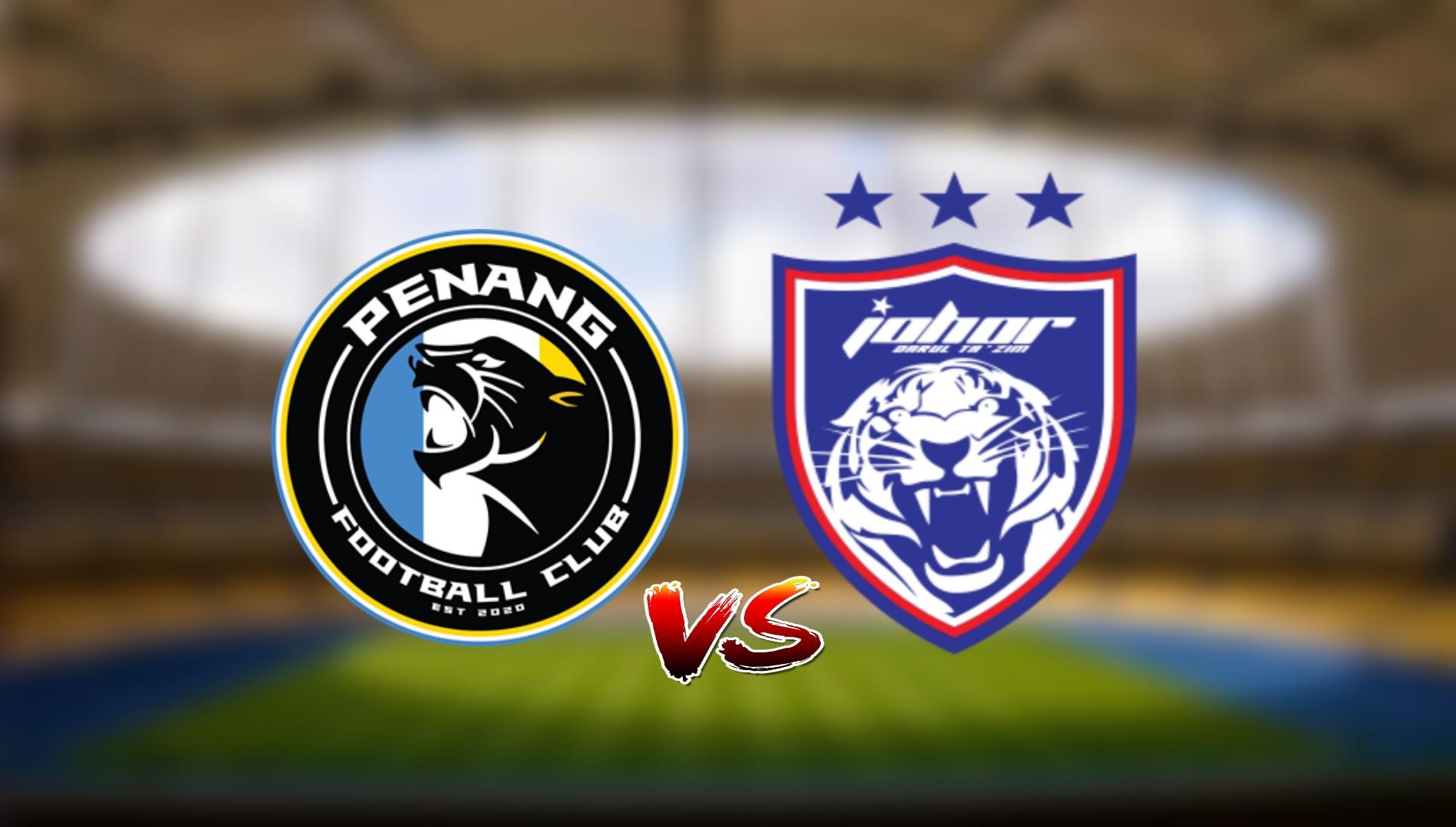 Live Streaming Penang FC vs JDT FC Liga Super 8.5.2021