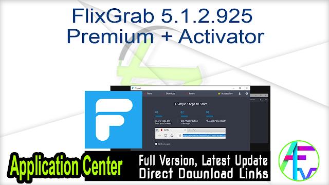 FlixGrab 5.1.2.925 Premium + Activator
