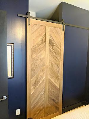 Finished Sliding Walnut Barn Door