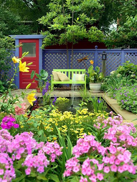 Beautiful landscaping garden fountain ideas