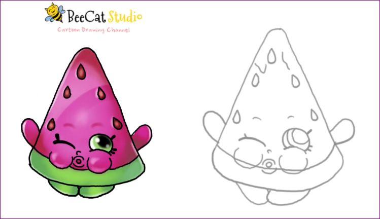 Shopkin World How To Draw Shopkins Season 1 Melonie
