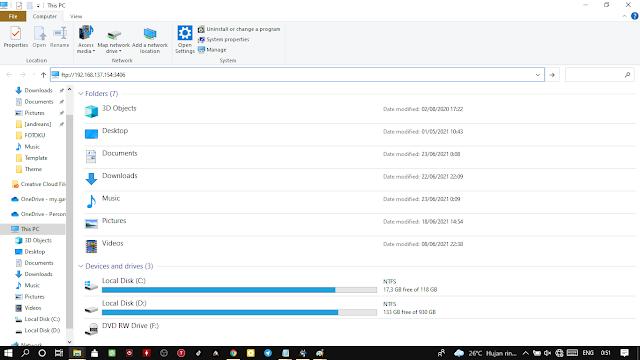 akses ftp android via windows explorer