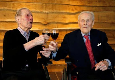 World's oldest living male twins turn 104
