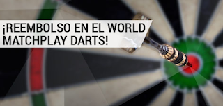 bwin desempate reembolso 25 euros World Matchplay Darts 20-24 julio