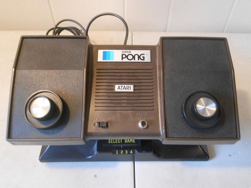 Retro treasures atari 39 s super pong system c 140 - Original atari game console ...