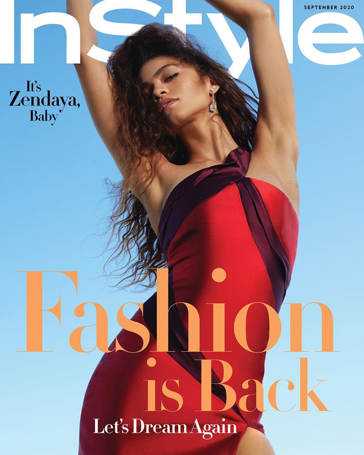 Zendaya is the Cover Girl of InStyle Magazine September 2020 Issue