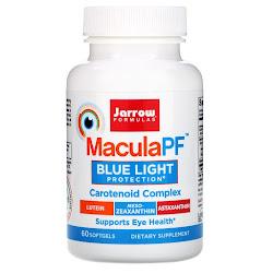 Jarrow Formulas, препарат для защиты зрения, MaculaPF, Blue Light Protection, 60 капсул