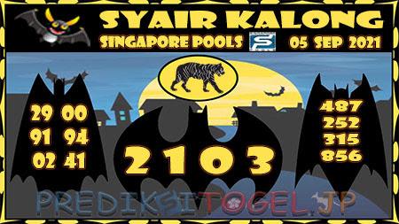 Syair Kalong Togel Singapura Minggu 05-Sep-2021