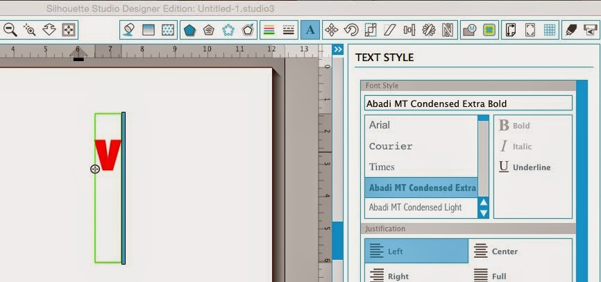Silhouette Studio, vertical text, Silhouette tutorial
