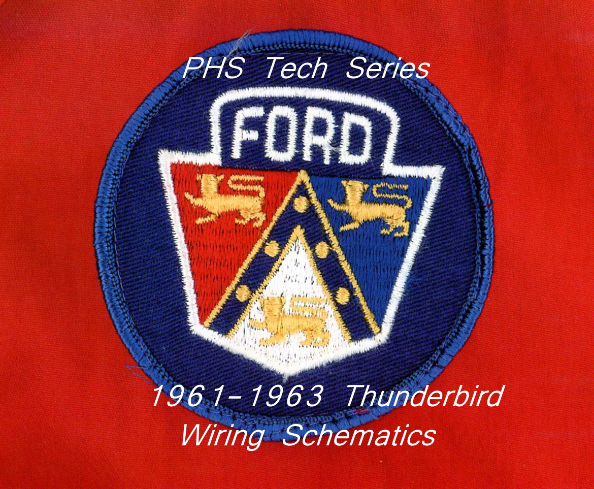 Tech Series 1961 1963 Thunderbird Wiring Schematics Corvette Schematic The Was An All New Look For Sports Gt From Ford Continuing Idea Of A 2 Model Opted Low And Wide Cruiser That Looked