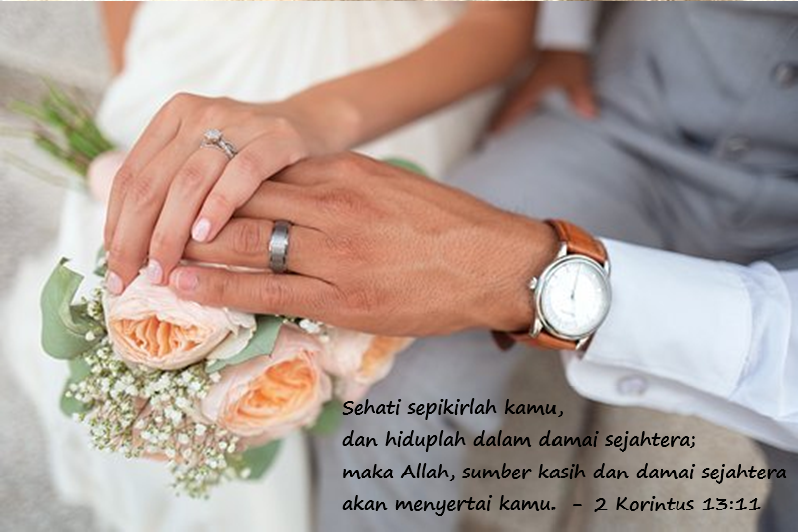 Gambar Ucapan Selamat Pernikahan Kristen Simple Yang Menyentuh