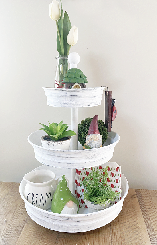 tiered tray for spring