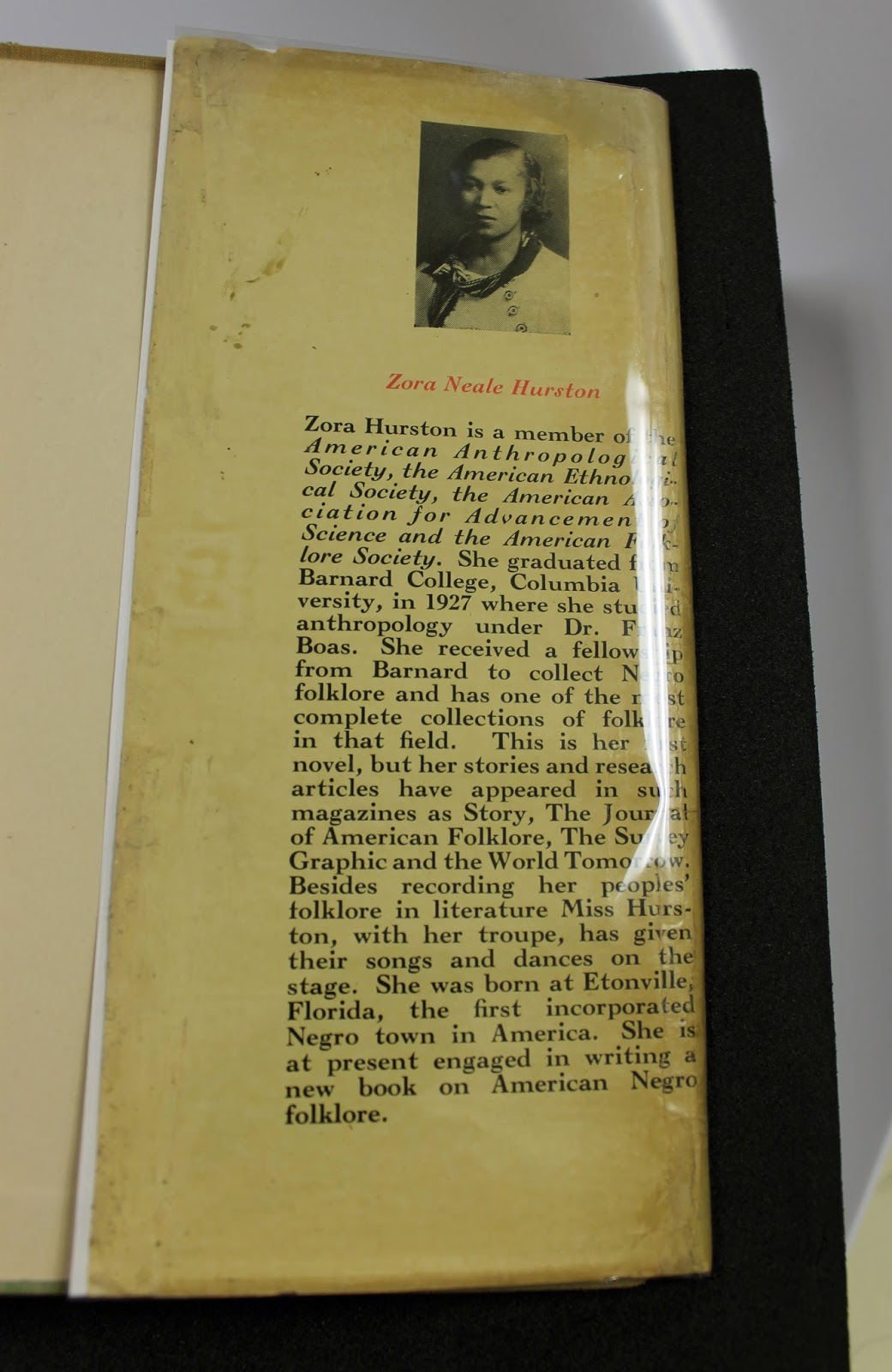 brandeis special collections spotlight zora neale hurston s zora neale hurston 2 this book along its restored rare dust jacket was procured through the generous support of the ann and abe effron fund