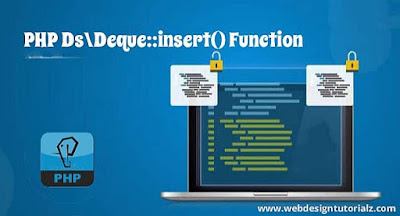 PHP Ds\Deque::insert() Function