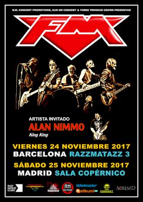 FM / Alan Nimmo tour dates Spain November 2017