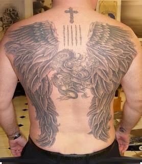 тату ангела +на спине мужские