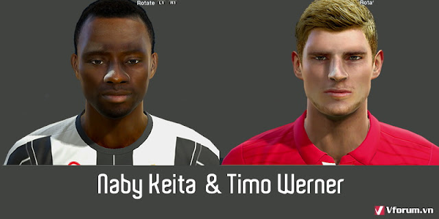 PES 2013 Naby Keita & Timo Werner Face by Turtle