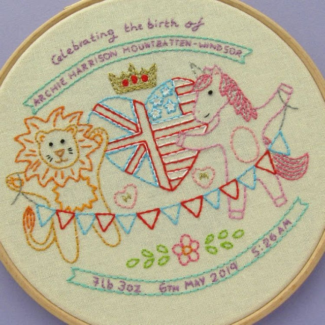 Royal Baby Embroidery Pattern - Archie Harrison