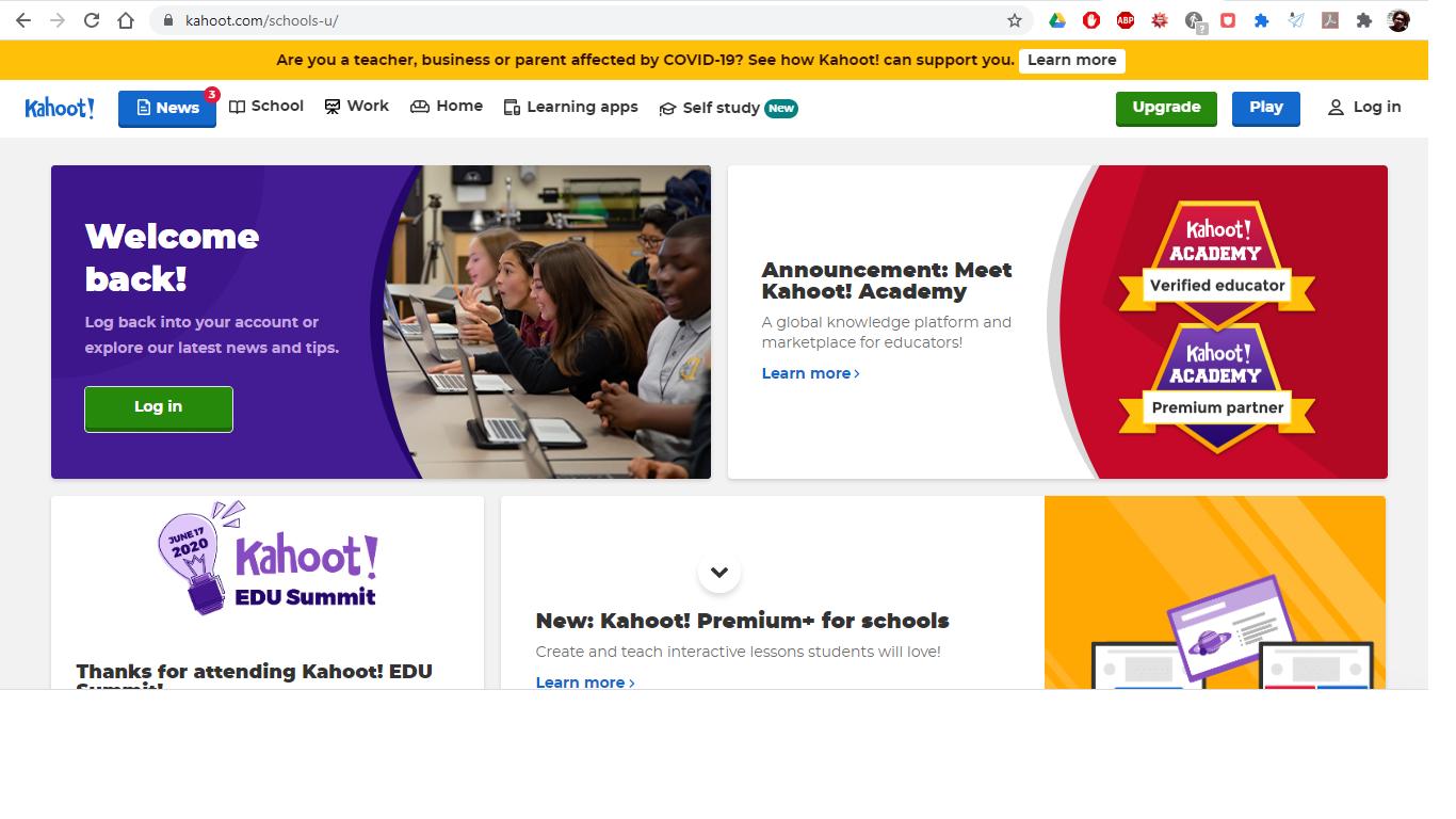 kahoot.com