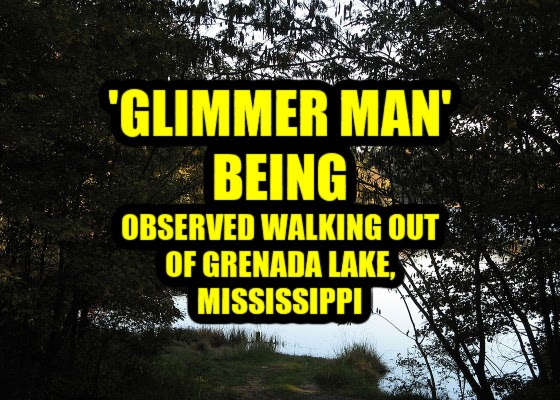 'Glimmer Man' Being Observed Walking Out Of Grenada Lake, Mississippi