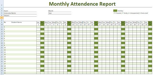 Employee Attendance Calendar 2016, 2016 Employee Attendance Calendar