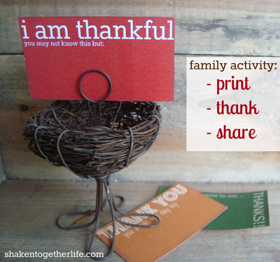 thanksgiving calling cards