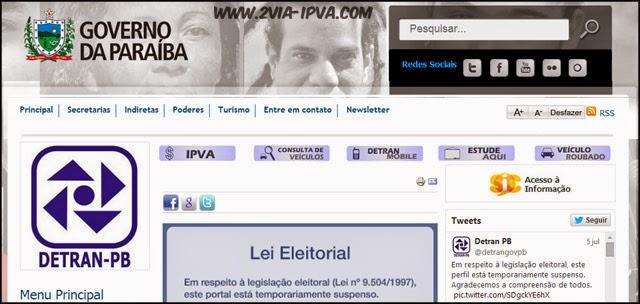DETRAN PB: Consultas no site