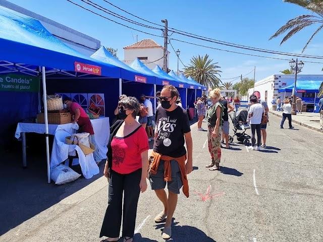 Fuerteventura.- El Mercado de Tetir concluye con gran éxito de organización ante las medidas sanitarias impuestas