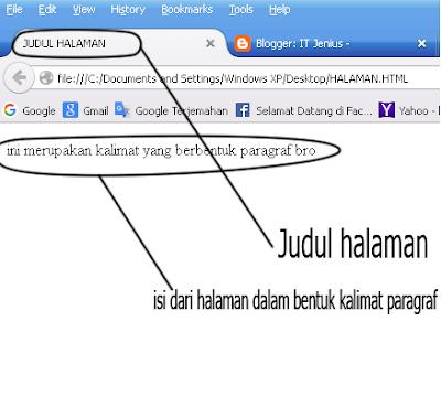 Struktur-struktur Dasar pada HTML