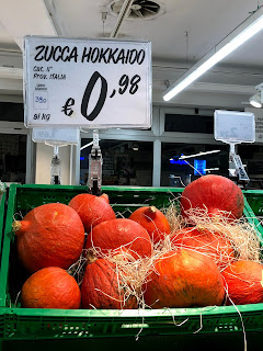 イタリアで見つけた北海道南瓜