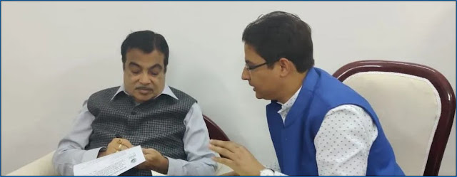 Darjeeling MP Raju Bista called upon Union minister for road transport & highways Nitin Gadkari