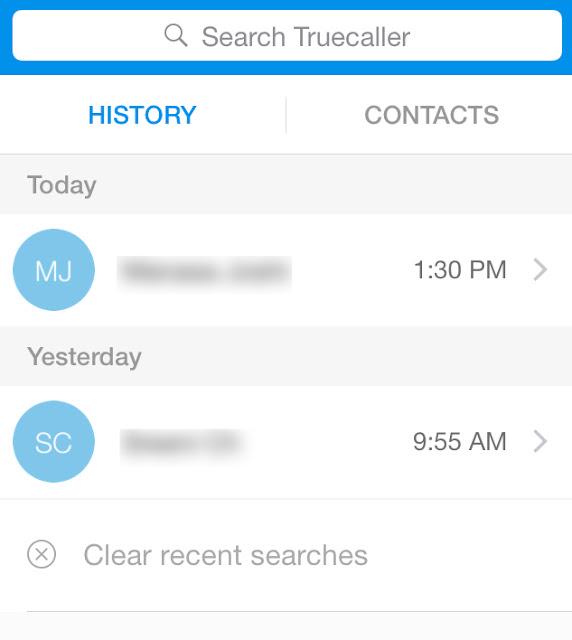 Menggunakan True Caller di iPhone