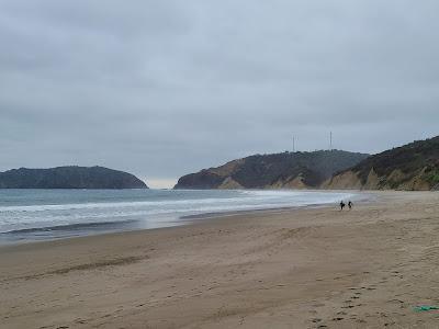 beach Ecuador playa coast surfers waves