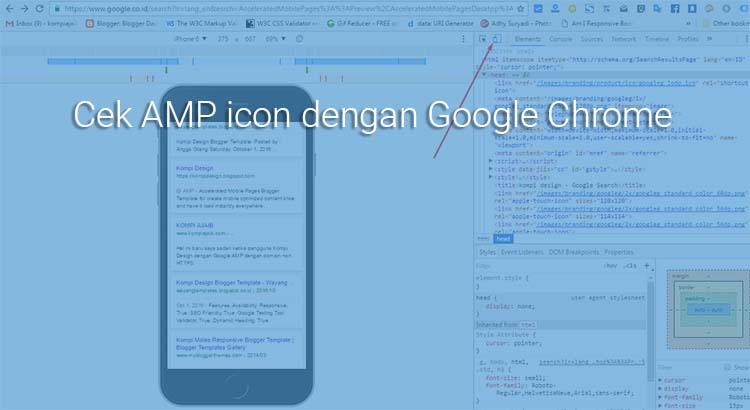 Cara Mengecek AMP Icon Di Hasil Penelusuran Dengan Chrome