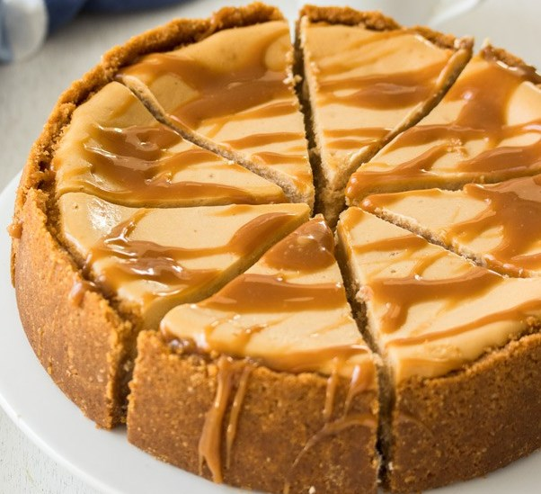 BAKED SALTED CARAMEL CHEESECAKE #desserts #cake