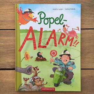 """""""Popel-Alarm!!"""" von Annette Langen, illustriert von Andrea Hebrock, erschienen im Coppenrath Verlag, Bilderbuch ab 3 Jahren, Rezension auf Kinderbuchblog Familienbücherei"""