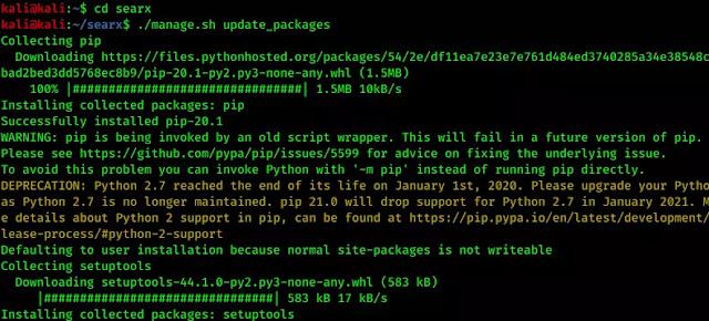 installing the dependencies