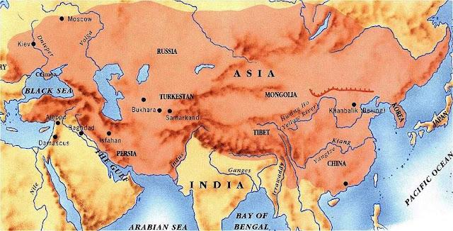 Peta kekuasaan bangsa Mongol