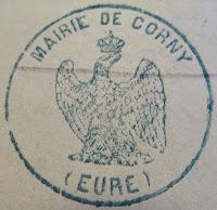 cachet mairie Corny 27 second empire