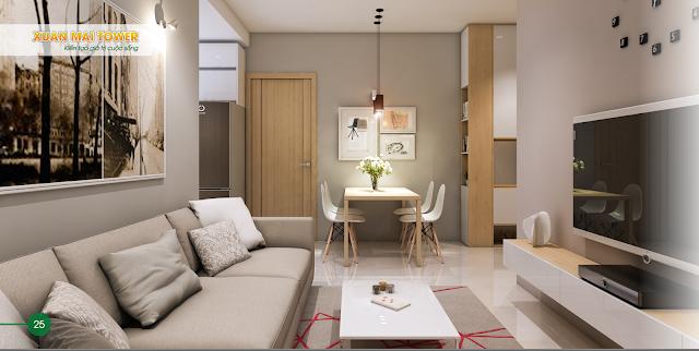 nội thất hiện đại của dự án Xuân Mai Thanh Hóa