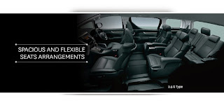 toyota vellfire seats arrangements