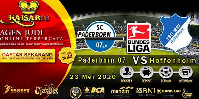 Prediksi Bola Terpercaya LIga German Paderborn 07 vs Hoffenheim 23 Mei 2020