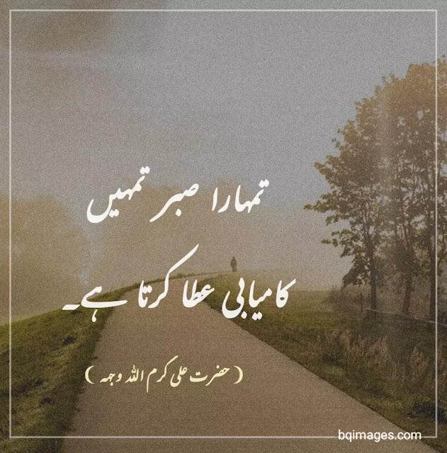 Hazrat Ali Quotes About Sabar