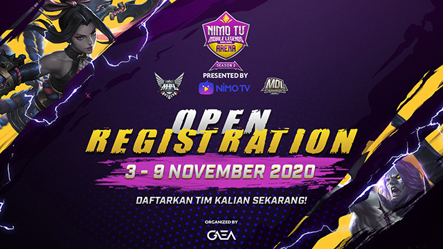 pendaftaran nimo tv nma mobile legends arena season 2