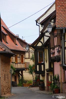 Una delle caratteristiche vie di Turckheim-