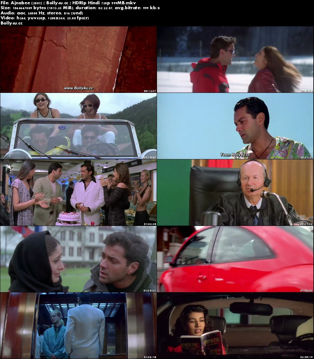 Ajnabee 2001 HDRip 999MB Full Hindi Movie Download 720p