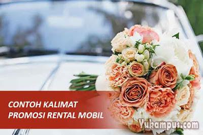 contoh kalimat promosi rental mobil box pribadi pernikahan