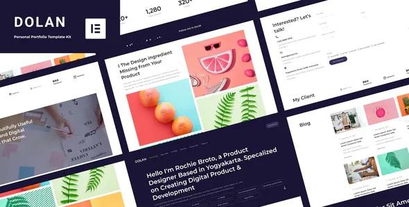 Best Personal Portfolio Elementor Template Kit