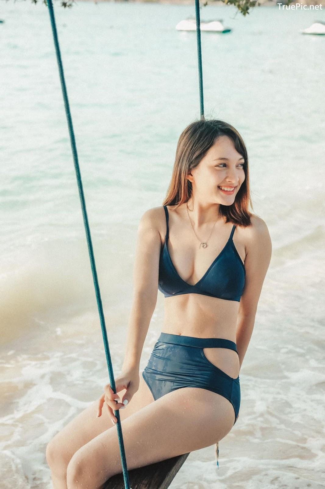 Image Thailand Model - Catherina Nybraaten - Dark Blue Bikini - TruePic.net - Picture-3